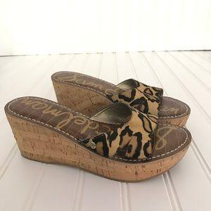 fb40197789c7 Sam Edelman Shoes -  45⬇ Sam Edelman Reid haircalf leopard wedge NEW
